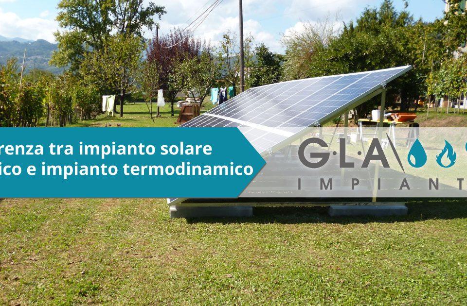 differenze impianto solare termico impianto termodinamico